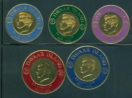 Davaar Island, Scotland, John F. Kennedy Color & Gold Foil Set/5, Mint NH - Kennedy (John F.)