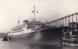 MS Vulcania Magnificent Vintage Plain Back Postcard Photo - Ships