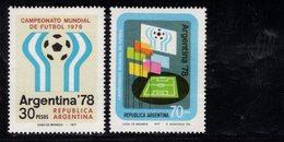 782398001 1977 SCOTT 1147 1148 POSTFRIS  MINT NEVER HINGED EINWANDFREI  (XX) - 11TH WORLD CUP SOCCER CHAMPIONSHIP ARGENT - Argentine