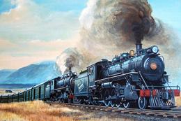 №120.35 Postcard Modern Rare New Passenger Locomotive Train Railway Retro Steam Train - Trains