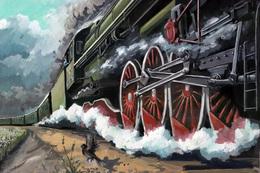 №120.38 Postcard Modern Rare New Passenger Locomotive Train Railway - Trains