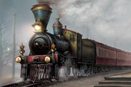 №120.39 Postcard Modern Rare New Passenger Locomotive Train Railway - Trains