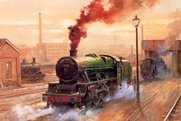 №120.41 Postcard Modern Rare New Passenger Locomotive Train City Railway - Trains
