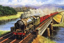 №120.43 Postcard Modern Rare New Passenger Locomotive Train Forest Railway - Trains