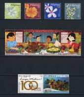 Filippine Philippines Philippinen Pilipinas 2018 Christmas, Flowers, Mabini 10 Stamps - USED (see Photo) - Filippine