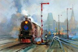 №120.44 Postcard Modern Rare New Passenger Locomotive Train Train Station - Trains
