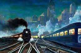 №120.46 Postcard Modern Rare New Passenger Locomotive Train Railway Branching - Trains