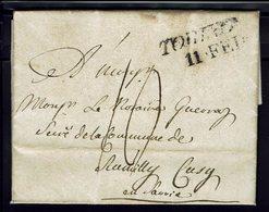 Italie - 1822 - Marque Torino 11 Feb - Lettre En Port Dû, Taxe Manuscrite 10 Décimes, Pour Rumilly (Fr) B/TB - - Italy