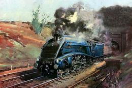 №120.47 Postcard Modern Rare New Passenger Locomotive Train Railway - Trains