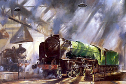 №120.48 Postcard Modern Rare New Passenger Locomotive Train Service - Trains