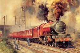 №120.49 Postcard Modern Rare New Passenger Locomotive Train Railway Workers - Trains