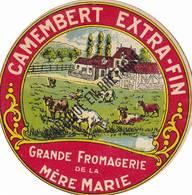 ETIQUETTE FROMAGE - PETIT CAMEMBERT - FROM DE LA  MERE MARIE -   Fab En BRETAGNE - Fromage