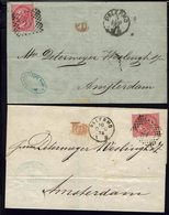 Italie - 1874 - Deux Lettres De Palermo En P.D. Pour Amsterdam Avec Timbre N° 19 - B/TB - - 1861-78 Victor Emmanuel II.