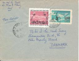 Vietnam Air Mail Cover Sent To Denmark 11-9-1975 - Vietnam