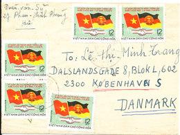 Vietnam Air Mail Cover Sent To Denmark 15-12-1976 - Vietnam