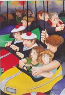 Postcard - Art - Beryl Cook - Bumper Cars - New - Postales