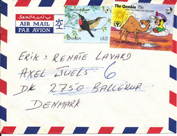 Gambia Air Mail Cover Sent To Denmark 1994 Topic Stamps - Gambia (1965-...)