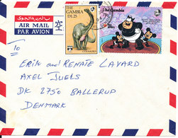 Gambia Air Mail Cover Sent To Denmark 4-6-1994 Topic Stamps - Gambia (1965-...)
