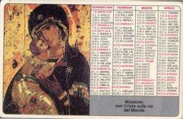 Roma - Santino Calendarietto PONTIFICIE OPERE MISSIONARIE 1989 - OTTIMO R9- - Religione & Esoterismo