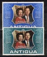 Antigua 1972 Set Of Stamps To Celebrate The Royal Silver Wedding. - Antigua & Barbuda (...-1981)