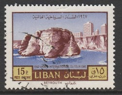 Lebanon 1967 Airmail - International Tourist Year 15P Multicoloured SW 1001 O Used - Lebanon