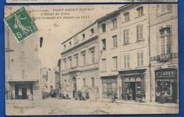 PONT-SAINT-ESPRIT     L'Hôtel De Ville   Magasins      Animées   écrite En 1913 - Pont-Saint-Esprit