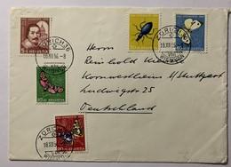 8682 - Série 1956 Sur Lettre Zurich 36 18.12.1956 Pour L'Allemagne Papillons Butterfly - Lettres & Documents