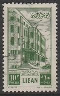 Lebanon 1953 Cedar Of Lebanon And General Post Office 10P Yellowish Green SW 489 O Used - Lebanon