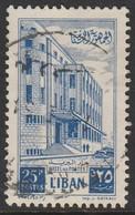 Lebanon 1953 Cedar Of Lebanon And General Post Office 25P Blue SW 491 O Used - Lebanon