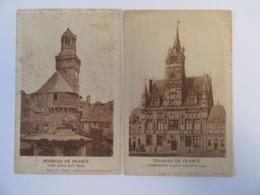 Série Des Beffrois De France - Viré Et Compiègne - Cartes Circulées En 1924 - Bâtiments & Architecture