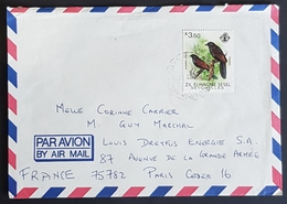 1982 Cover, Zil Elwagne Sesel, Seychelles - Paris France - Seychelles (1976-...)