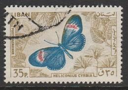 Lebanon 1965 Airmail - Butterflies 35P Multicoloured SW 899 O Used - Lebanon