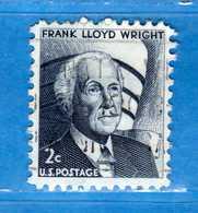 (Us2) USA °- 1965-66 - Américains Célèbres- Frank Lloyd Wright.  Yvert . 794 .  USED.  Vedi Descrizione - Stati Uniti