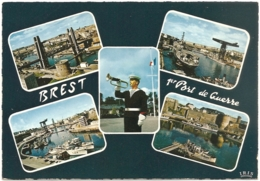 29 - Brest 1er Port De Guerre - Multivues (5) : Pont De Recouvrance Et Tour Tanguy, Penfeld, Jeanne D'Arc...  (c. 1971) - Brest
