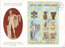 VATIKAN, Block 5, FDC, Ausstellung Vatikanischer Kunstwerke In Den Vereinigten Staaten Von Amerika 1983 - Blocks & Kleinbögen