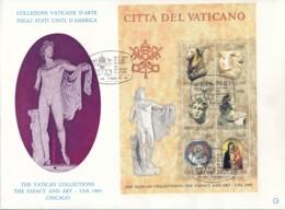 VATIKAN, Block 6, FDC, Ausstellung Vatikanischer Kunstwerke In Den Vereinigten Staaten Von Amerika 1983 - Blocks & Kleinbögen