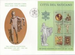 VATIKAN, Block 7, FDC, Ausstellung Vatikanischer Kunstwerke In Den Vereinigten Staaten Von Amerika 1983 - Blocks & Kleinbögen