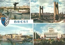 29 - Brest - Multivues (4 + Blason) : L'Arsenal, Le Pont Levant, L'amirauté Et L'hôtel De Ville - éd. Jos N° MX 1431 - Brest