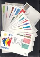 EUROPA CEPT 1971, 20 FDC, 20 Länder Ohne Griechenland - Europa-CEPT