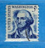 (Us2) USA °-1965-66 - Américains Célèbres- George Waschington.  Yvert . 796a D. 10 Verticale .  USED.  Vedi Descrizione - Stati Uniti