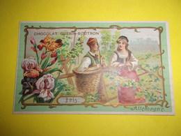 CHROMO Chocolat GUERIN BOUTRON Fleur Et Pays  ALLEMAGNE IRIS - Guerin Boutron