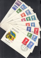 EUROPA CEPT 1958, 8 FDC, 8 Länder Kompletter Jahrgang - 1958