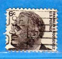 (Us2) USA °-1965-66 - Américains Célèbres- Franklin Roosevelt.  Yvert . 797 .  USED.  Vedi Descrizione - Stati Uniti