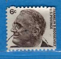 (Us2) USA °-1965-66 - Américains Célèbres- Franklin Roosevelt.  Yvert . 797b  .  USED.  Vedi Descrizione - Stati Uniti