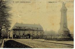 14 CAEN N°48 Caserne Hamelin édition M.V.C Attelage Cheval - Caen