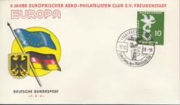 BRD 295 EF, Auf Sonderumschlag Mit Sonderstempel: Freudenstadt 5 Jahre Europ. AERO-Philatelisten-Club 17.12.1958 - Europa-CEPT