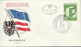 ÖSTERREICH  1059 FDC, Europa CEPT 1959 - Europa-CEPT