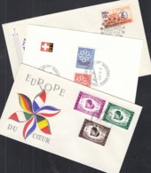 EUROPA CEPT Mitläufer 1959, 2 FDC + 1 PTT-Bögli, Belgien Schweiz, Türkei - Europa-CEPT
