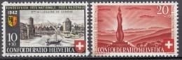 SCHWEIZ  408-409,  Postfrisch **, Pro Patria 1942, Genf + Wehrmännerdenkmal - Pro Patria