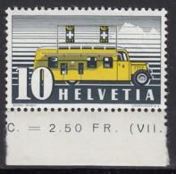 SCHWEIZ  311 II Y,  Postfrisch **, Automobil-Postbüro 1937 - Suiza